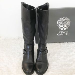 Vince Camuto Shoes - Vince Camuto Brunah Smooth Calf Black Boots